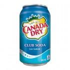Canada Dry Club Soda Water 12/355mL